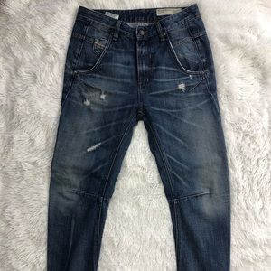 Diesel 25 Jeans Fayza Distressed Skinny Tapered